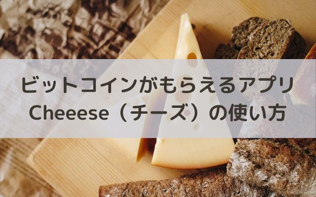 Cheeese(チーズ)の使い方